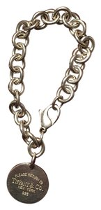 Tiffany & Co. Silver link bracelet with round Tiffany charm