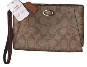 Coach Coach Morgan Signature Large Zippered Coated Canvas iPhone 6/7 Clutch