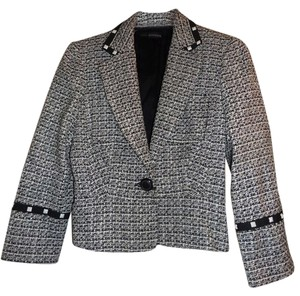 bebe Tweed Black & WHite Blazer