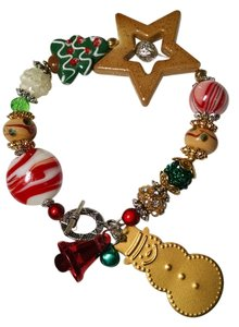 Other Christmas Charm Bracelet Bells Snowman J1445