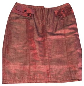 Kay Unger Skirt Shimery red