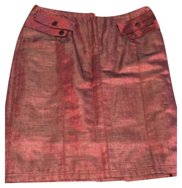 Item - Shimery Red Skirt Size 12 (L, 32, 33)