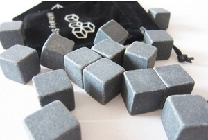 Grey 10 Boxes - 90 Pcs Whisky Stone Wine Chiller Chilling Cooling Ice Cube Alcohol Favor Gift Boxes