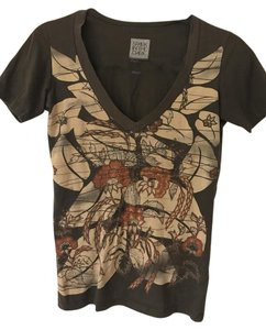Urban Outfitters Brown Abstract Pattern T Shirt Multi