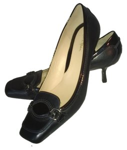 Cole Haan Black Leather and Patent Leather Pumps