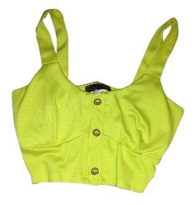 Body Central Green Cropped Crop Top