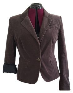 Ann Taylor LOFT Velvet Work-wear Brown Blazer