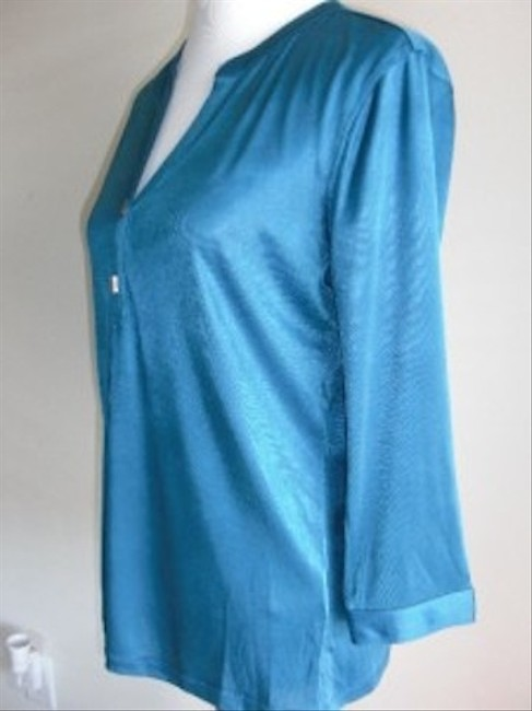 Banana Republic New 3/4 Sleeves Stretch Top Blue