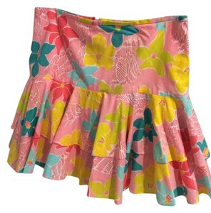 Lilly Pulitzer Spring Floral Fun Skirt Tropical Print