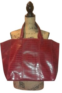 Neiman Marcus Tote in Dark Red