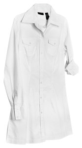 New York & Company short dress White Button Up Classic Tunic on Tradesy