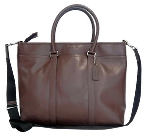 Coach Lexington Leather Navy/brown Tote in Mahogany