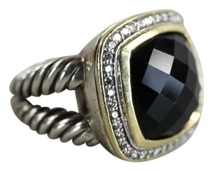 David Yurman David Yurman Albion 0.48cts Diamonds Onyx Sterling Silver Ring