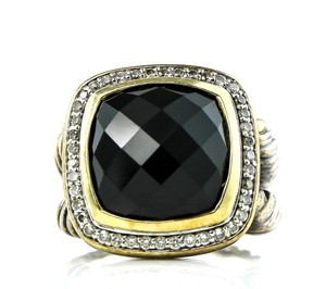 David Yurman David Yurman Faceted Onyx and Paved Diamonds Albion Ring