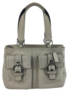 Coach Soho Satchel in Off White