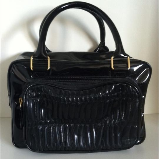 Elizabeth Arden Structured Patent Glossy Shoulder Bag