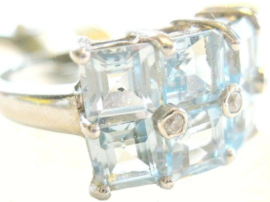 Other 6.20ctw.Genuine Blue Topaz Set in 925 Sterling Ring Size 7.5
