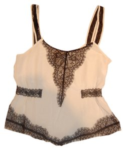 Lux Top Off white and black