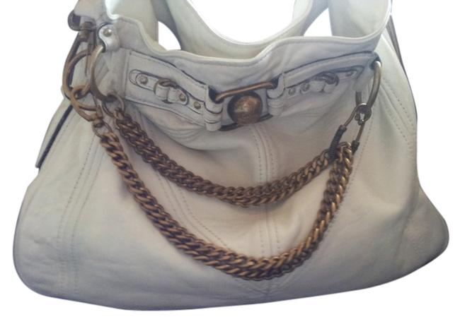 Item - Chain Off White Leather Hobo Bag