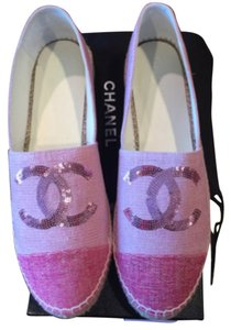 Chanel Espadrille 16c Cruise PINK Flats