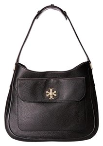 Tory Burch Leather Signature Gold Hardware Hobo Bag