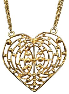 Retro Vintage Gold Tone Heart Shaped Necklace Retro Vintage Gold Tone Heart Shaped Necklace