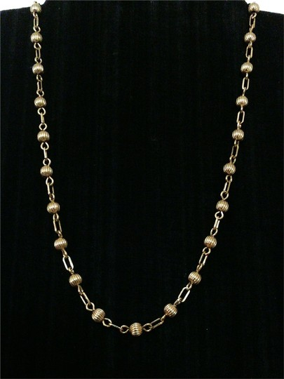 MONET Vintage Signed Gold Tone Mixed Link Single Strand Choker Necklace