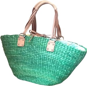 Banana Republic Leather Leather Green Beach Bag