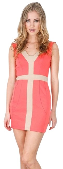 Finders Keepers short dress Pink/Sand on Tradesy