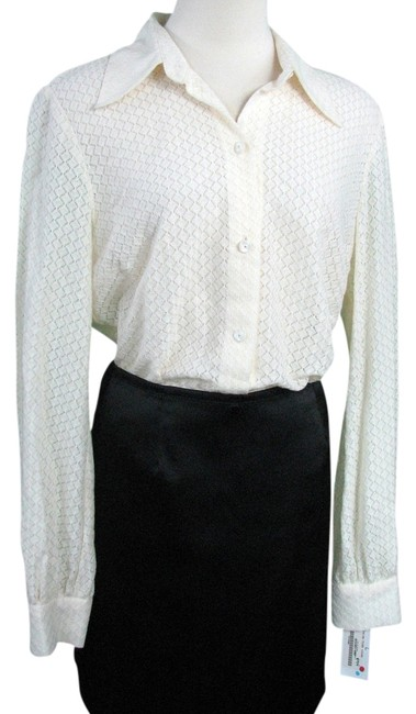 Trina Turk Lace Button Down Shirt Ivory