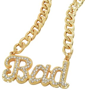 Bad gold tone chain link