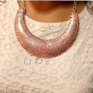 Pink and Silver Aztec Necklace