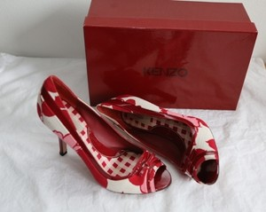 Kenzo Multi: Red/White/Pink Pumps