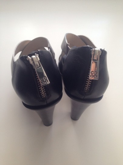 Coach Reptil High Heels Leather Black Sandals