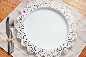 10 Lace Chargers Charger Plates White
