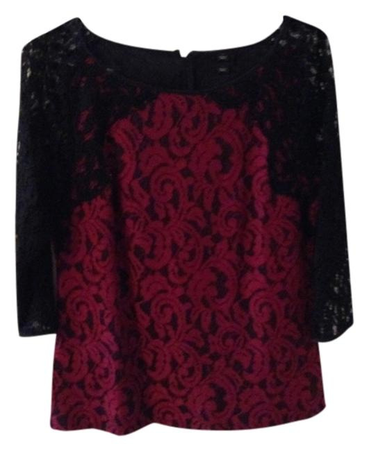 Preload https://img-static.tradesy.com/item/795247/ann-taylor-red-and-black-lace-trim-structured-night-out-top-size-6-s-0-0-650-650.jpg