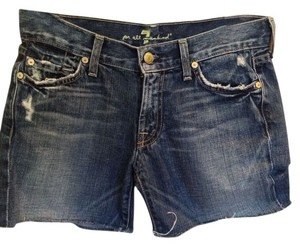 7 For All Mankind Denim Shorts-Distressed