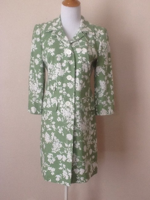 Item - Green / White Floral Jacket Size 2 (XS)