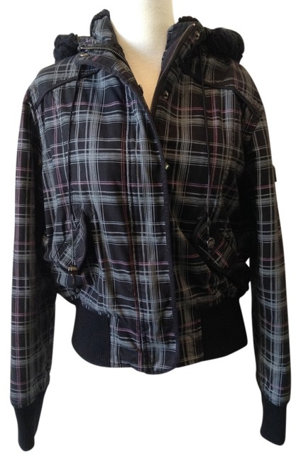 So Cal black plaid Jacket