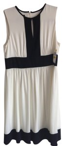 Alfani short dress Off white/Black Classic Keyhole Swing Skirt on Tradesy