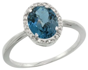 Macy's London Blue Topaz and Diamond Ring