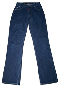 Ecko Red Size 7 Junior Boot Cut Jeans-Dark Rinse