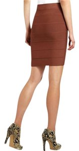 BCBGMAXAZRIA High Waisted Pencil Bandage Night Out Mini Skirt Brown