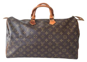 Louis Vuitton Canvas Speedy 40 Vintage Satchel in Monogram