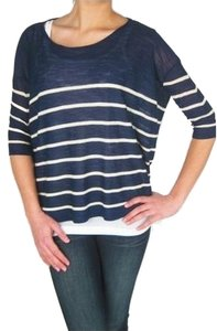 Twelfth St. by Cynthia Vincent Knit Striped Boatneck Sweater