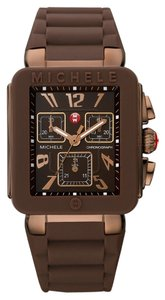 Michele Michele Jelly Bean Park Rose Gold Brown Watch MWW06L000007