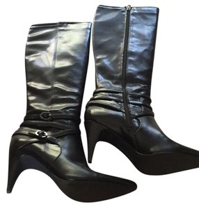 Calvin Klein Black with small silver buckle Boots