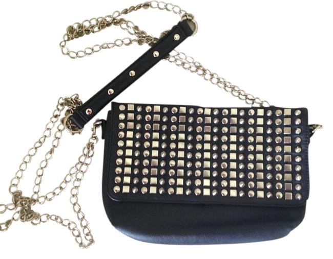 Item - Black with Silver Studs Leather Cross Body Bag
