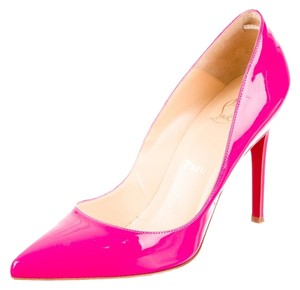 Christian Louboutin Patent Patent Leather Pigalle Pointed Toe Stiletto 38 8 Pink Pumps