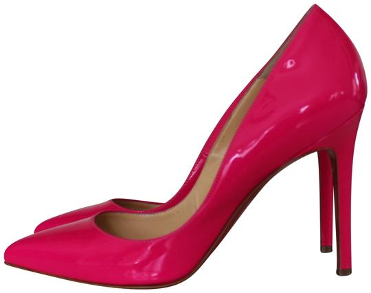 Christian Louboutin Patent Leather Pigalle Pointed Toe So Kate Red Sole Pink Pumps